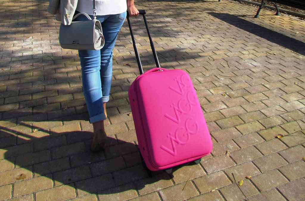paco martinez maleta cabina logocase rosa