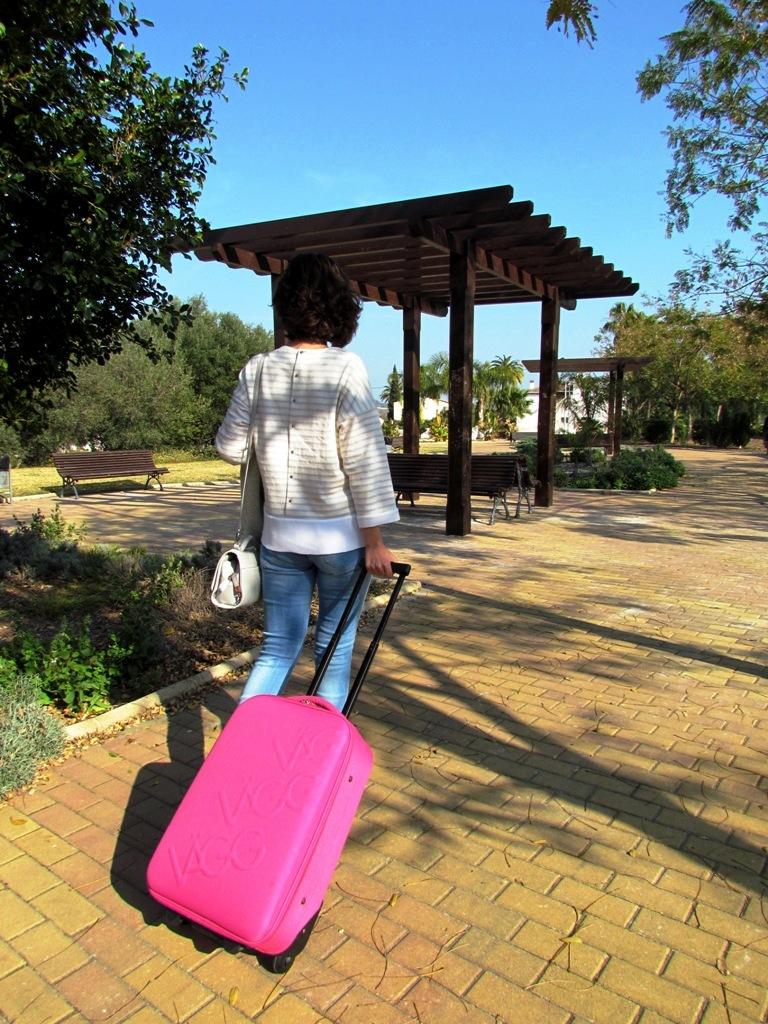 paco martinez maleta de cabina logocase rosa