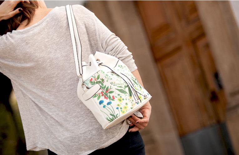 lookbook paco martinez bolsos print flores sobre estampado 2