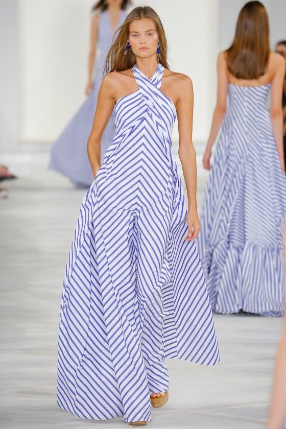 ralph lauren vestido rayas diagonal rayas tendencia 2016